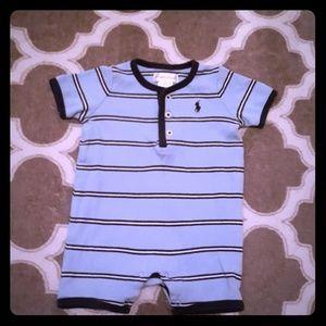 Ralph Lauren Polo Infant Baby Boy Boy Romper 3m